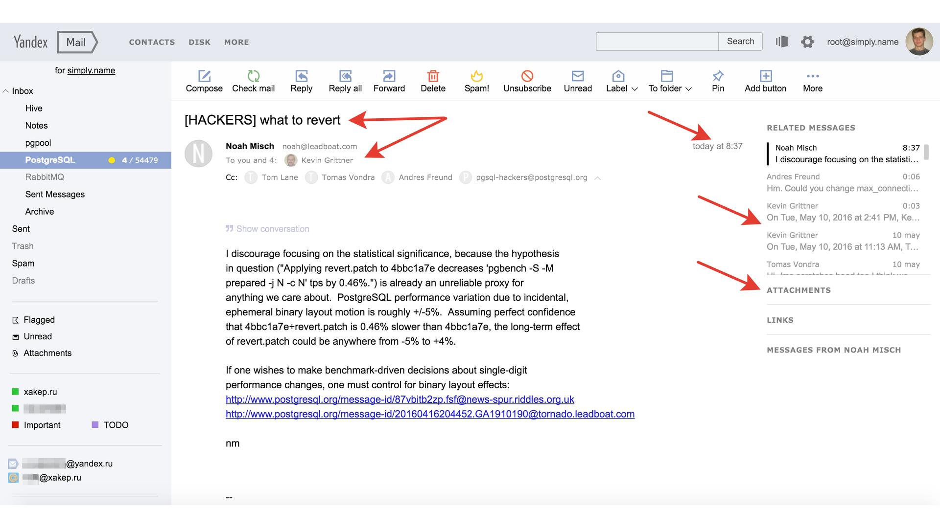 История успеха «Яндекс.Почты» с PostgreSQL - 3
