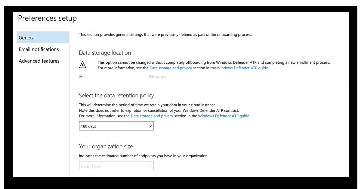 Служба Advanced Threat Protection в Защитнике Windows - 7