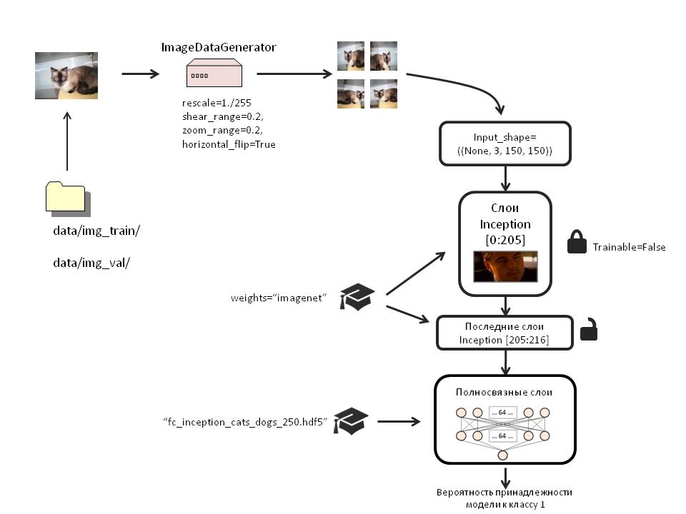 Создаём нейронную сеть InceptionV3 для распознавания изображений - 4