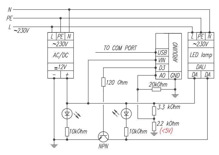 Управление светильниками по протоколу DALI с помощью Arduino - 3