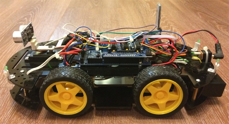 Робомобиль на базе Arduino Mega 2560 с Bluetooth управлением и автономным движением с объездом препятствий - 1