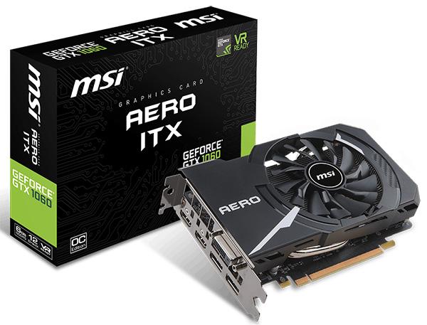 MSI GeForce GTX 1060 6 GB Aero ITX OC