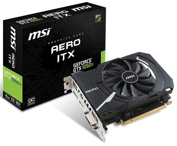 MSI GeForce GTX 1050 Ti 4 GB Aero ITX OC