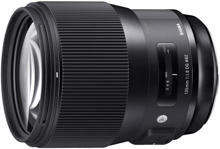 Объектив Sigma 135mm F1.8 DG HSM Art будет выпускаться в вариантах для камер Canon, Nikon и Sigma