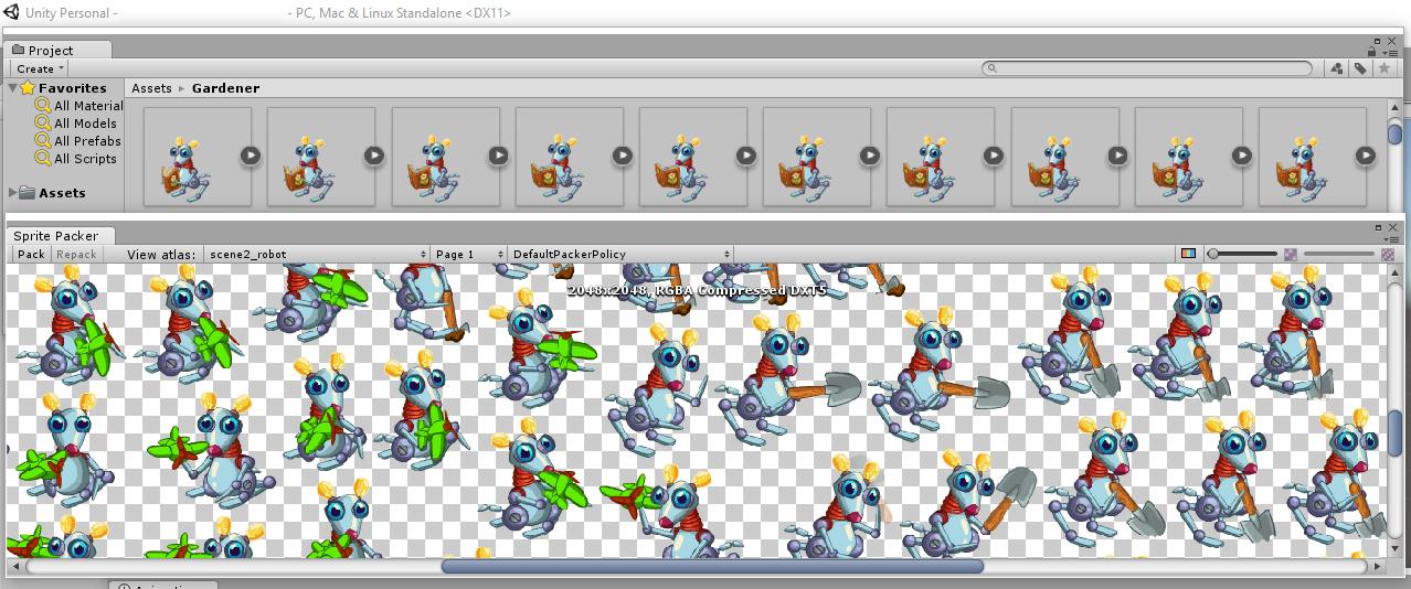 Оптимизация анимаций в Unity3D - 2