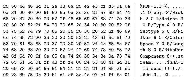 Первый способ генерации коллизий для SHA-1 - 3