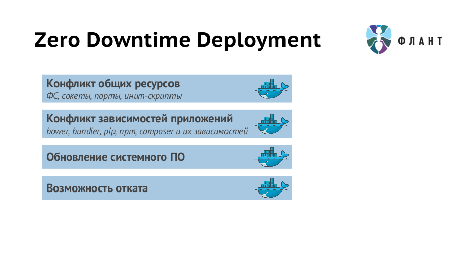 Zero Downtime Deployment, Флант