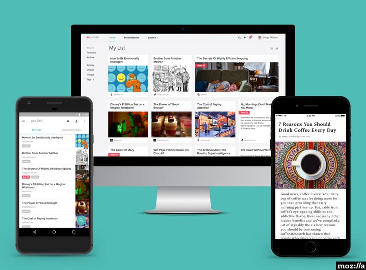 Сервис Pocket теперь принадлежит Mozilla
