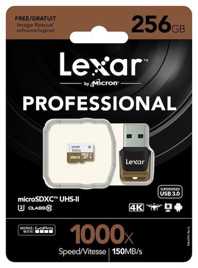 Lexar представила карту памяти Professional 1000x microSD UHS-II объёмом 256 ГБ