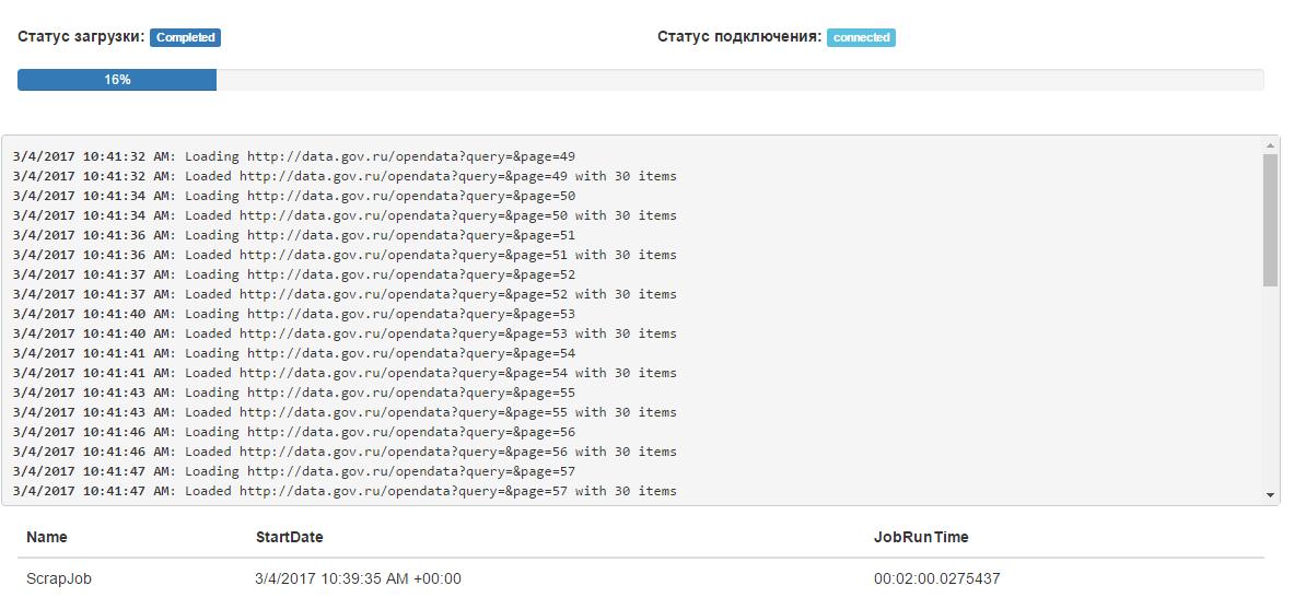 Разработка веб-скрапера для извлечения данных с портала открытых данных России data.gov.ru - 8