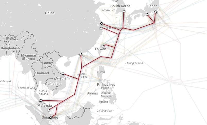 Магистральные проекты телекоммуникационных гигантов и карты подводных каналов связи - 11