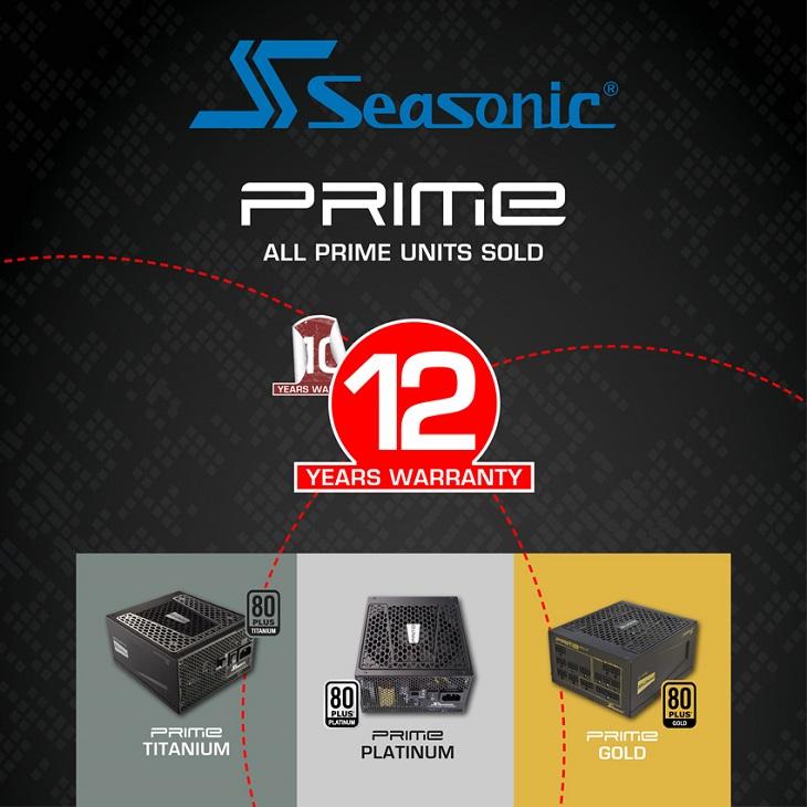 Владельцы блоков Seasonic Prime могут распрощаться с десятилетней гарантией