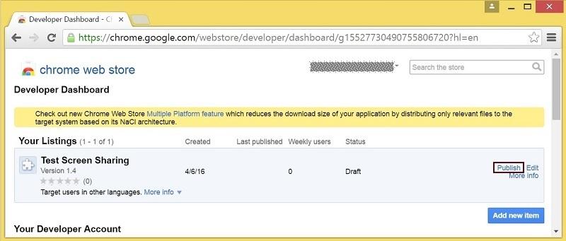 Cкринкастинг на сайте по WebRTC из браузера Chrome - 10