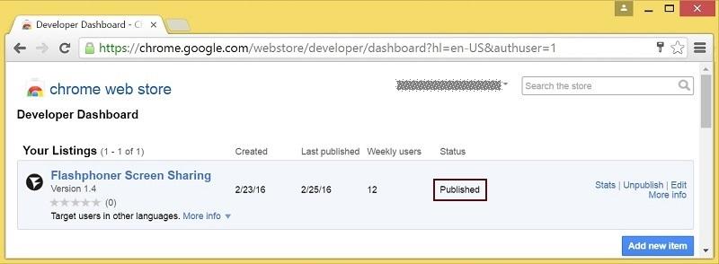 Cкринкастинг на сайте по WebRTC из браузера Chrome - 11