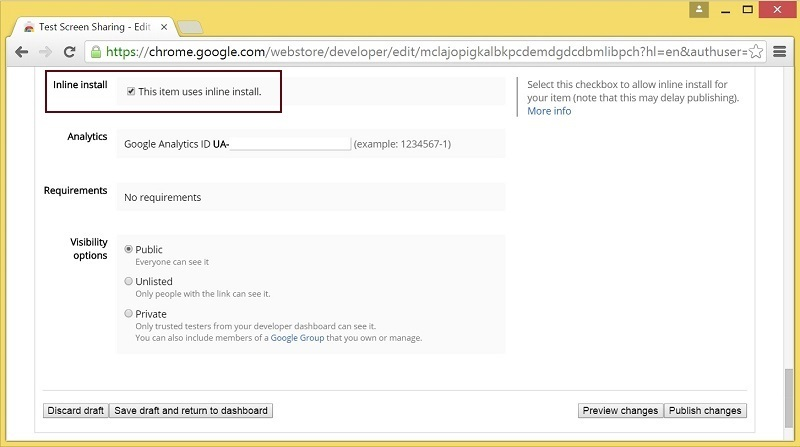 Cкринкастинг на сайте по WebRTC из браузера Chrome - 13