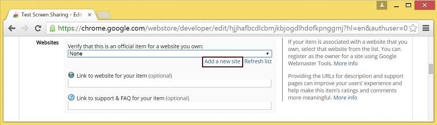 Cкринкастинг на сайте по WebRTC из браузера Chrome - 14