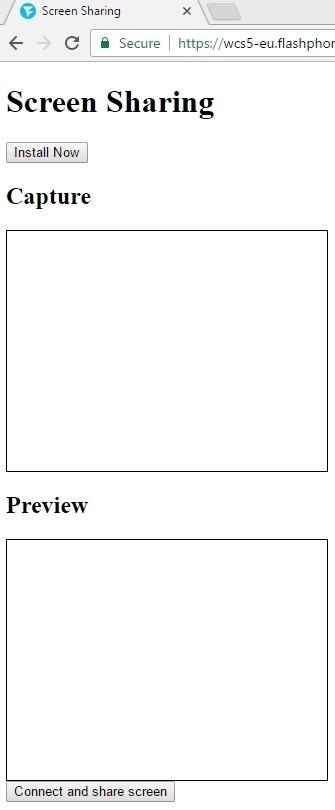 Cкринкастинг на сайте по WebRTC из браузера Chrome - 22