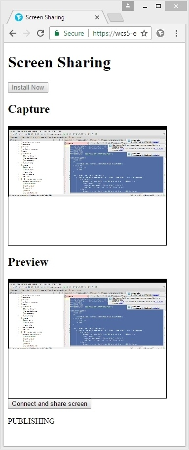 Cкринкастинг на сайте по WebRTC из браузера Chrome - 25