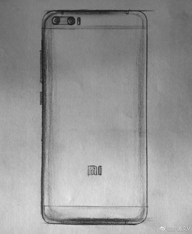 Опубликованы эскизы смартфона Xiaomi Mi6