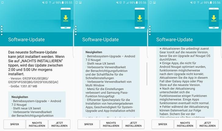 Samsung начала распространять обновление для  Galaxy S6 и S6 edge