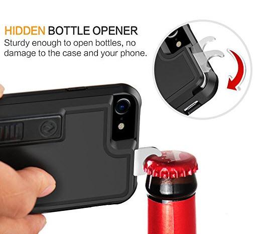 Чехол ZVE для смартфона iPhone 7 включает прикуриватель для сигарет и открывалку