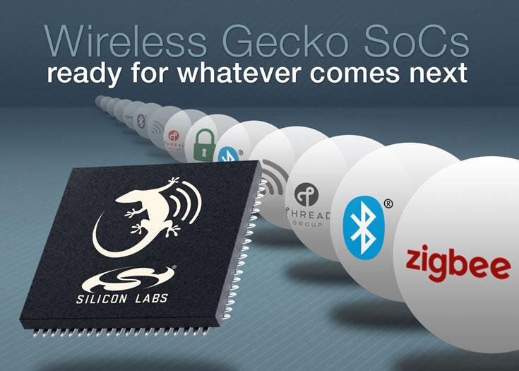 Однокристальные системы Wireless Gecko EFR32xG12 поддерживают несколько протоколов IoT