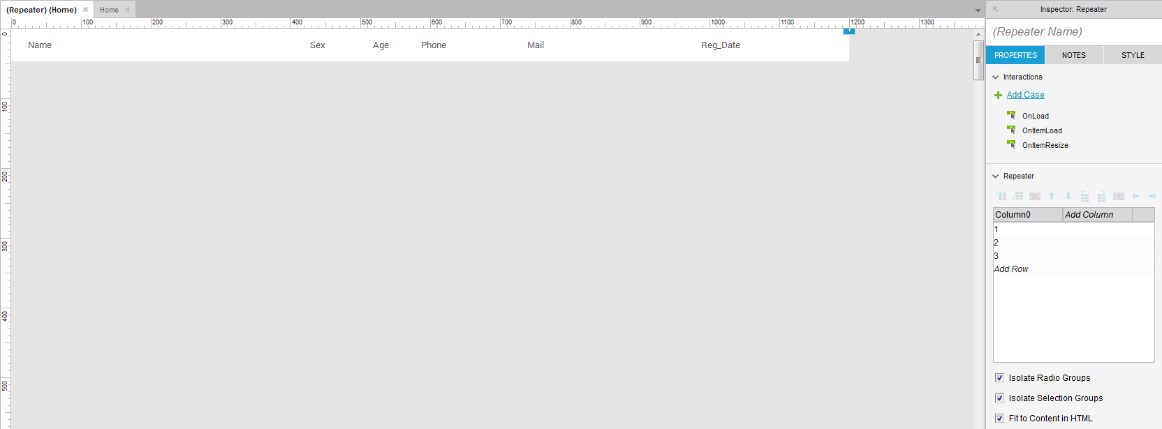 Прототипируем таблицу в Axure - 3