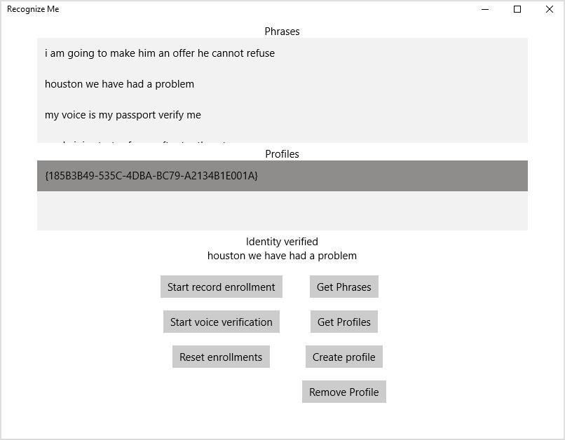 Аутентификация и идентификация по голосу с помощью когнитивных сервисов Microsoft - 5