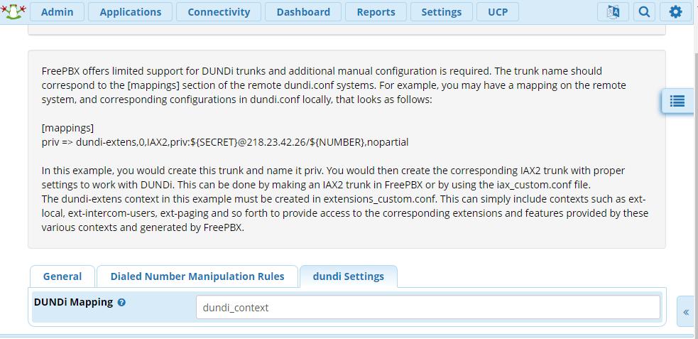 Настройка DUNDi в Asterisk, под управлением FreePBX - 4