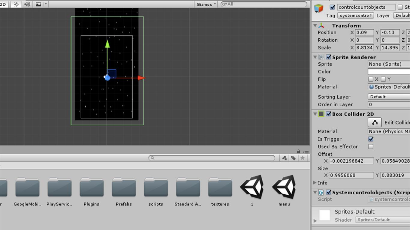 Разработка космической стрелялки для android с использованием игрового движка Unity3D - 11
