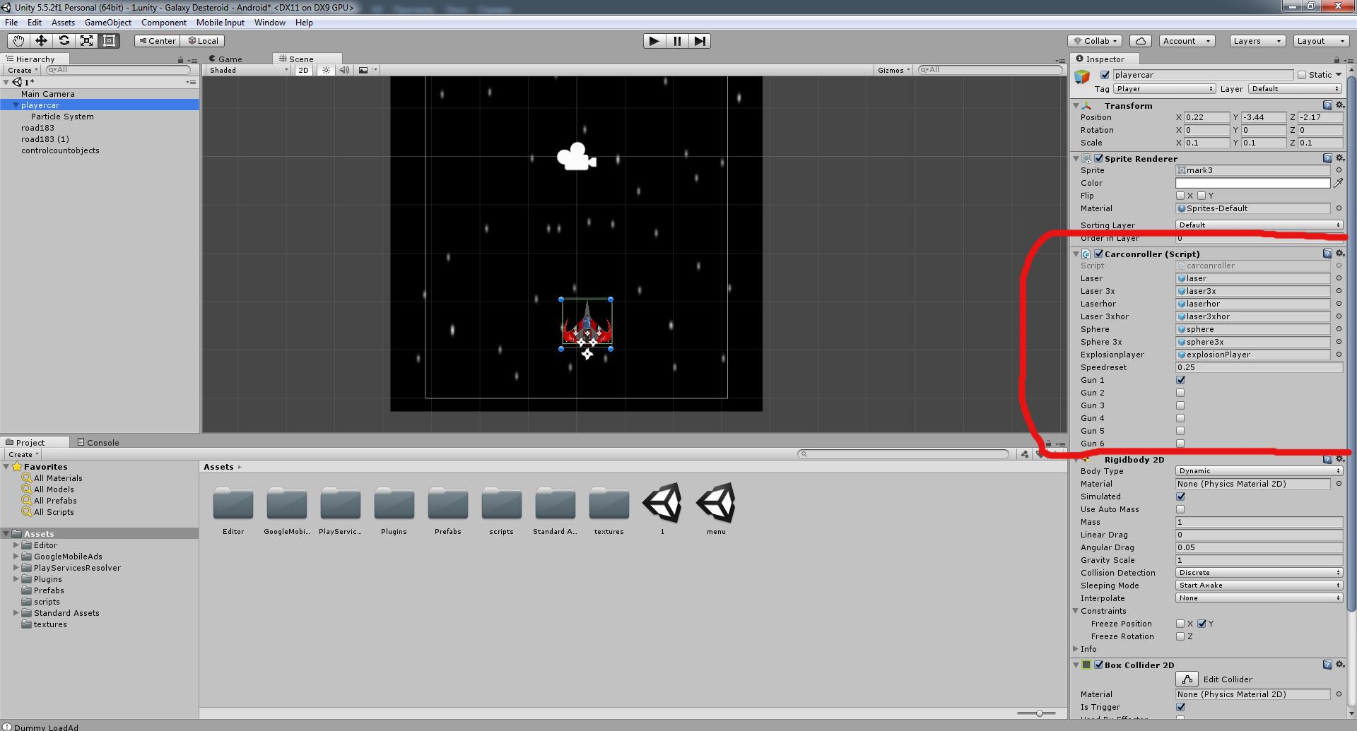 Разработка космической стрелялки для android с использованием игрового движка Unity3D - 17