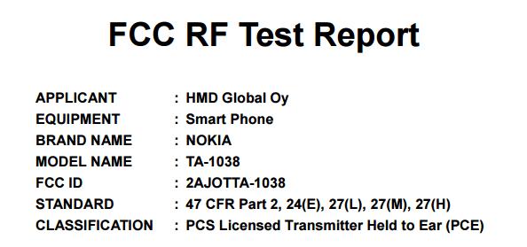 Предположительно, TA-1038 — разновидность смартфона Nokia 6 для США