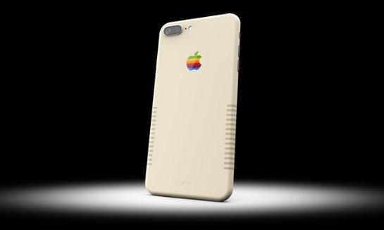iPhone 7 Plus в стиле винтажного Macintosh