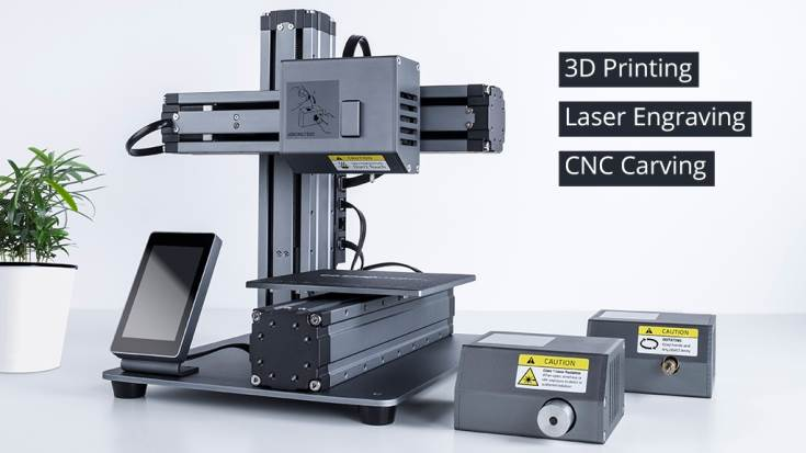 На выпуск 3D-принтера, гравера и фрезеровального станка с ЧПУ Snapmaker уже собрано более полумиллиона долларов