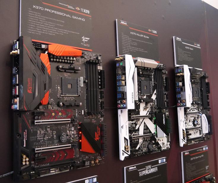 Компания ASRock привезла на CeBIT 2017 системные платы на чипсетах AMD B350, AMD X370 и Intel Z270