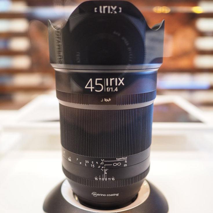 По предварительным данным, объектив Irix 45mm f/1,4 будет выпускаться в вариантах для камер Canon и Nikon