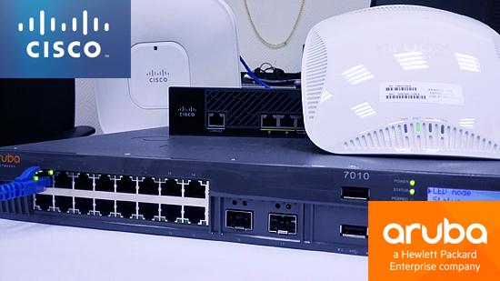 Интерфейсы контроллеров HPE Aruba и Cisco - 1
