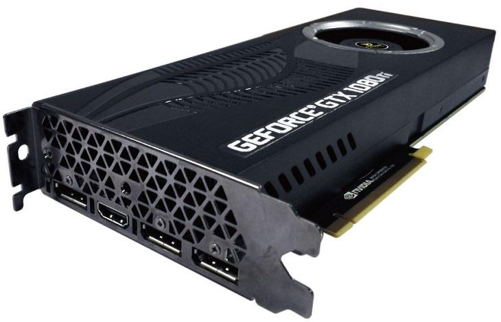 Ускоритель Manli GeForce GTX 1080 Ti with Blower Fan обзавелся двухсекционным радиатором