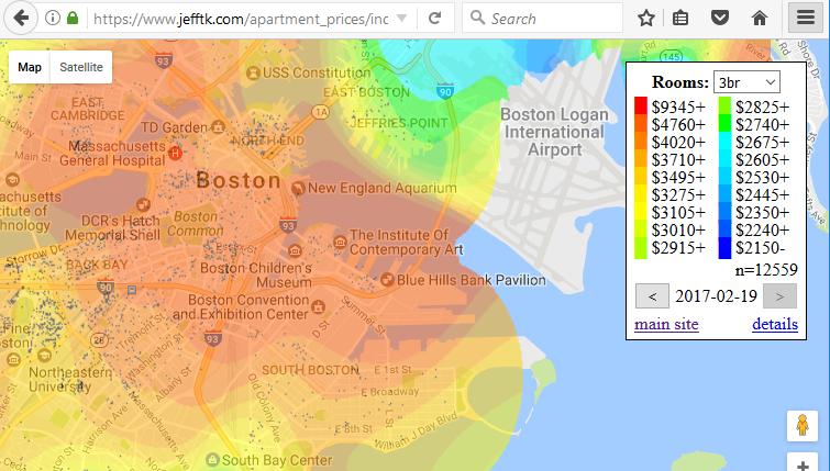 Статистика по стоимости недвижимости — визуализация на карте - 2
