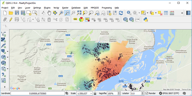 Статистика по стоимости недвижимости — визуализация на карте - 5
