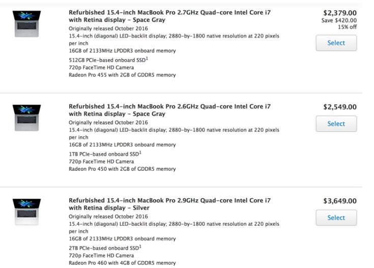 Apple начала продавать восстановленные  MacBook Pro с панелью Touch Bar