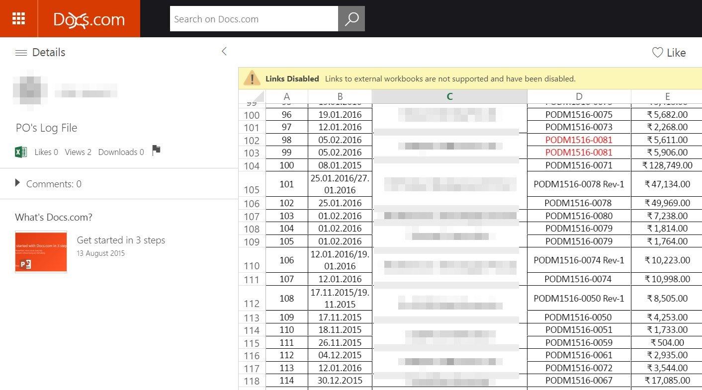 На Docs.com доступны для поиска конфиденциальные документы пользователей Office365 - 1