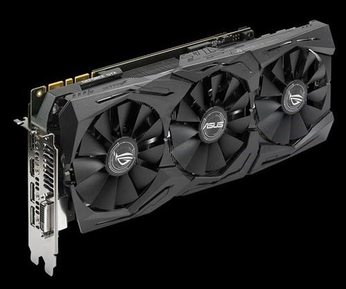 Карты GeForce GTX 1060 OC edition 6GB 9Gbps GDDR5 и ROG Strix GeForce GTX 1080 OC edition 8GB 11Gbps GDDR5X получили память с более высокими частотами