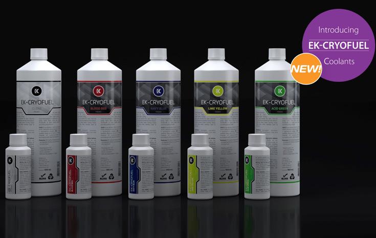 Производитель предлагает жидкость EK-CryoFuel в готовом виде в бутылках по 900 мл и в виде концентрата по 100 мл