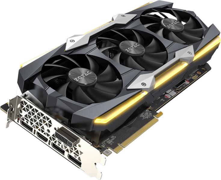 Верхнюю позицию линейки займет модель Zotac GeForce GTX 1080 Ti AMP! Extreme Edition