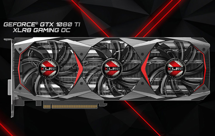 Печатная плата PNY GeForce GTX 1080 Ti XLR8 Gaming OC унаследована у референсного образца