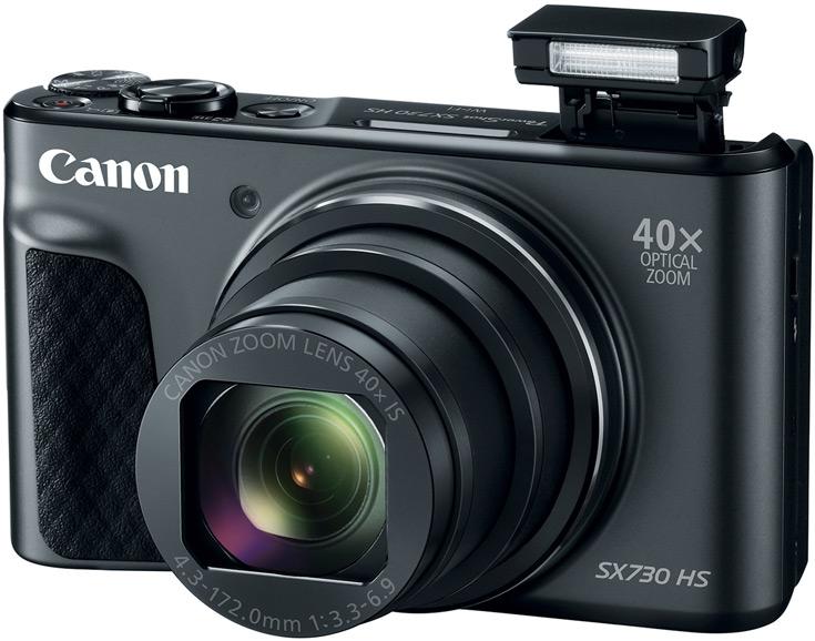 При габаритах 110 x 64 x 40 мм камера Canon PowerShot SX730 HS весит 300 г