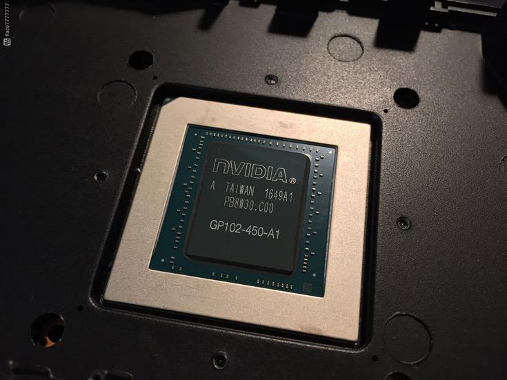Конфигурация GP102-450-A1 включает 3840 ядер CUDA