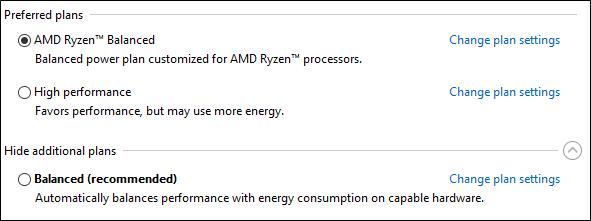 AMD разработала для Ryzen новый профиль питания