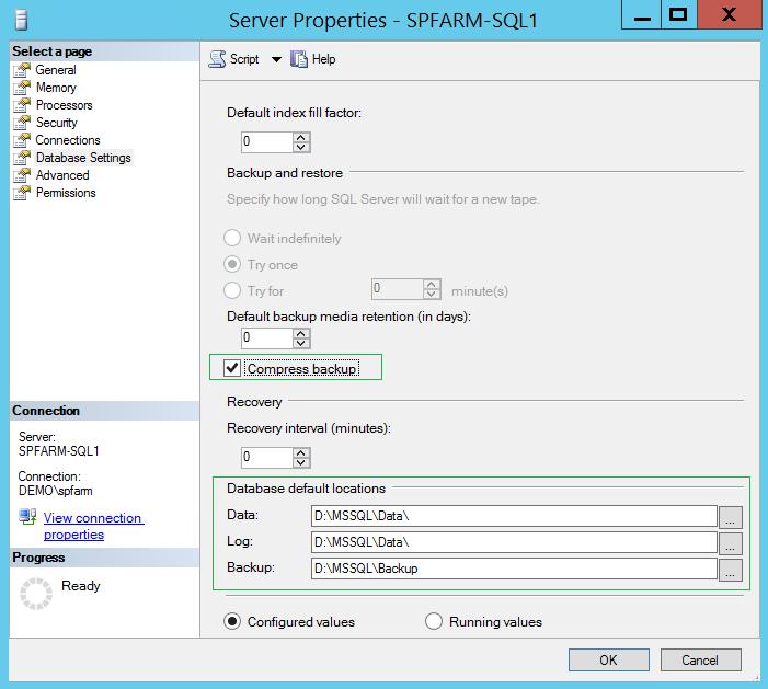 Тюнинг SQL Server 2012 под SharePoint 2013-2016. Часть 2 - 20